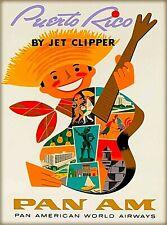 United States Old San Juan Puerto Rico America Travel Advertisement Art Poster