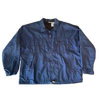 Vintage Nike Men's Windbreaker Jacket Full Zip W/ Big Logo Navy Blue Size Large