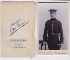 83310 Kabinett Foto Soldat mit Seitengewehr und Portepee Crimmitschau