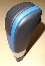 FORD FPV FG FGX LEATHER AUTOMATIC GEAR SHIFT HANDLE XR6 XR8 F6 GT - BLACK & BLUE