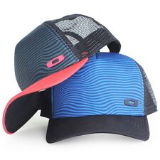 2 x Oakley Crater Trucker Cap Black Blue Red Mens Womens Baseball Vented Hat