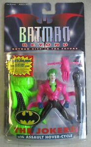 SEALED MOC VTG 1999 BATMAN BEYOND THE JOKERZ FIGURE WITH HOVER CYCLE HASBRO