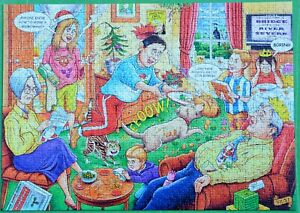 """""""CHRISTMAS DAY"""" RAVENSBURGER WHAT IF? No15 1000 PIECE PUZZLE COMPLETE EXCELLENT"""