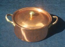 More details for vintage tagus chef copper lidded casserole 19cm  diameter excellent condition