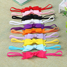 AB_ 10Pcs Newborn Baby Girl Headband Infant Toddler Bow Hair Band Girls Accessor