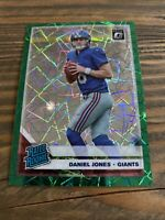 2019 OPTIC 154 DANIEL JONES RC GREEN VELOCITY NEW YORK GIANTS QB ROOKIE CARD