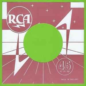 RCA (red & white) REPRODUCTION RECORD COMPANY SLEEVES - (pack of 10)