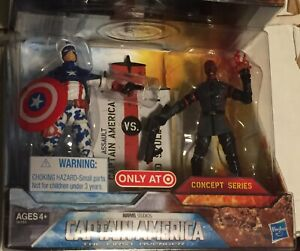 """MARVEL CAPTAIN AMERICA & RED SKULL 3.75"""" 3 3/4 Concept Series TARGET EXCLUSIVE"""