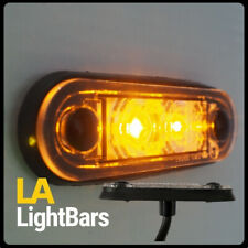 *** HELLA TYPE AMBER QUICK FIT LED MARKER LIGHT 12/24V SLIM LOW PROFILE***
