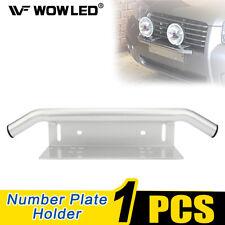 Bull Bar Parachoques licencia número de placa Placa de montaje del soporte de soporte para la barra de luz de trabajo