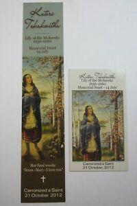 St Kateri Tekakwitha Bookmark and Magnet