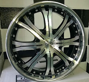 """17"""" 8H 4/100 & 4/114.3 LAVINHARD ALLOY MAG WHEELS SUIT SMALL JAPANESE CARS"""
