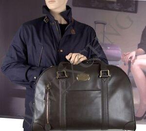 SAMSONITE BLACK LABEL RESORT SLIM BOWLING BAG BROWN LEATHER