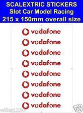 Scalextric Slot car stickers Model Race Vodafone W Logo Lego self adhesive vinyl