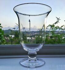 BLOWN GLASS Flower Vase Hurricane Lamp Candle Holder Lantern Table Centrepiece