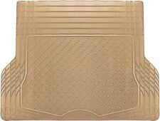 Trunk Cargo Floor Mats for SUV Van Truck All Weather Rubber Beige Auto Liners