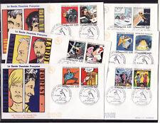 enveloppe 1er jour   les timbres de la bande deessinée   16 Angoulème   1988