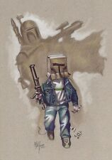 """Litografía """"SOÑANDO SER BOBA"""" STAR WARS. Autor: Miguel Alfaro"""