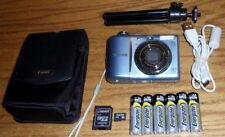 Canon PowerShot A1100IS 12.1MP 4.0x Optical Zoom Lens UVGC Blue Guarantee Bundle