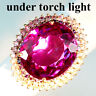 CHANGE BLUE PURPLE SPINEL RING 26.50 CT. 925 STERLING SILVER ROSE GOLD SZ 6.75