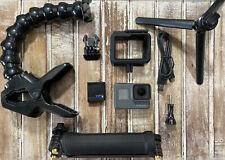GoPro HERO6 Black Camera HD 4K CHDHX-601 Hero 6 + Jaws Clamp + 3-Way Arm