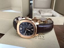 BURBERRY Britain BBY1211 Automatic 18k Rose Goldplated Alligator leather