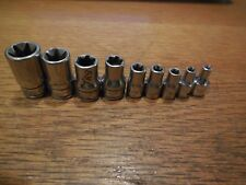 """Snap On 1/4"""" & 3/8"""" Dr. 9 Pc Female Torx Socket Set  E4 to E16"""