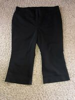 SO SLIMMING by Chico's Size 3 Short Solid Black Business / Dress Trousers Pants