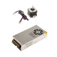 Universal Regulated Switch Power Supply 12V/20A+Stepper Motor for 3D Printer