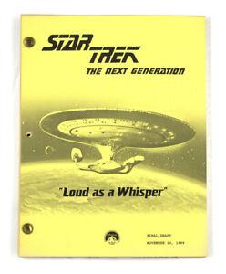 """STAR TREK: TNG ORIGINAL SCRIPT - """"Loud as a Whisper"""", Written by J. Zambrano"""