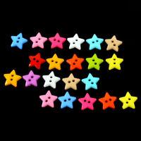100 Stücke Mischfarbe 2 Löcher Harz Stern Tasten zum Nähen Sammelalbum Handwerk