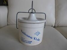 Kaukauna Klub, Wisconsin Original Label CROCK, Vintage, Dairy/Cheese, W/Lid!
