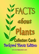 Plant information Cards,Facts About Plants Collector Cards - Backyard edition.