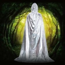 Hooded Velvet Cloak Wicca Robe Medieval Witchcraft Cape Halloween Wedding Pagan