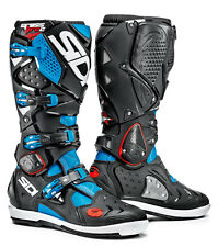 SIDI Crossfire 2 SRS Light Blue Cyan Black 2016 Motocross BOOTS 43