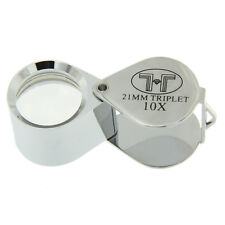 21mm Triplet Precision Eye Loupe 10x Magnification For Coins Jewelry Diamonds