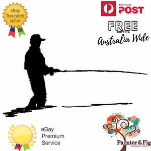 Fishing Stamp - Fisherman Silhouette Stamps, Wilderness Series - Art Impressions
