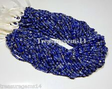 """3-4 mm. NATURAL MULTI SODALITE MICRO FACETED ROUNDLLE BEADS 13"""" STRAND GEMSTONES"""
