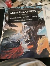 A Diversity of Dragons Anne McCaffrey w/ R. Woods Large Hard Back Book As New