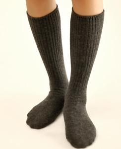 3 Pack Mens 100%Merino Wool Crew Socks Gentleman Dress Solid Warm Thick Mid Calf