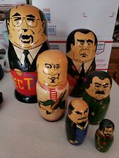 Nesting dolls Russian former political leaders of the Ussr matryoshka dolls 10""