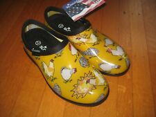 NEW SLOGGERS Rain & Garden Shoes - Daffodil Yellow size 6 chickens hens