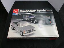 AMT Show-Off Hauler Super Set 1991 Chevy C-1500 Stepside, 1957 Corvette, Trailer