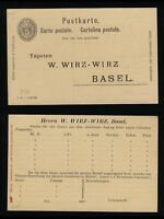 SUISSE / SWITZERLAND / SCHWEIZ - POSTKARTE 5c Black - Mi.P26 (dat. X 96)