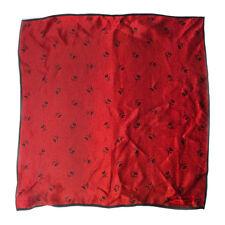 "Vintage Retro Classy Ralph Lauren Red Full High Quality Silk Scarf Small 15.50"""