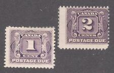 CANADA STAMPS #J1-J2  --- 1c + 2c POSTAGE DUES - 1906 - UNUSED