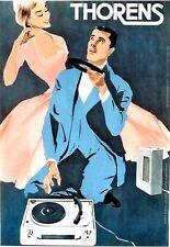 Original vintage poster THORENS SWISS VINYL RECORD PLAYER c.1963