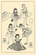 Vintage 1950's Sewing Pattern Child's Pretty Frilly Party Dress Age 4 Years Rare