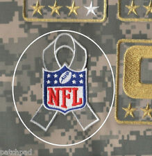 NFL SALUTE TO MILITARY SERVICE CAMOUFLAGE ACU DIGITAL RIBBON Iron-on PATCH
