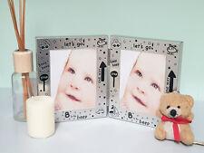 Silver Photo Frame • Baby Christening Gift/Keepsake • Boy/Girl Baby Shower Gift